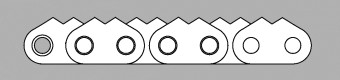 Łańcuch z płytką zębatą typ Z2