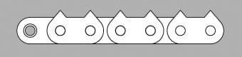 Łańcuch z płytką zębatą typ Z2D