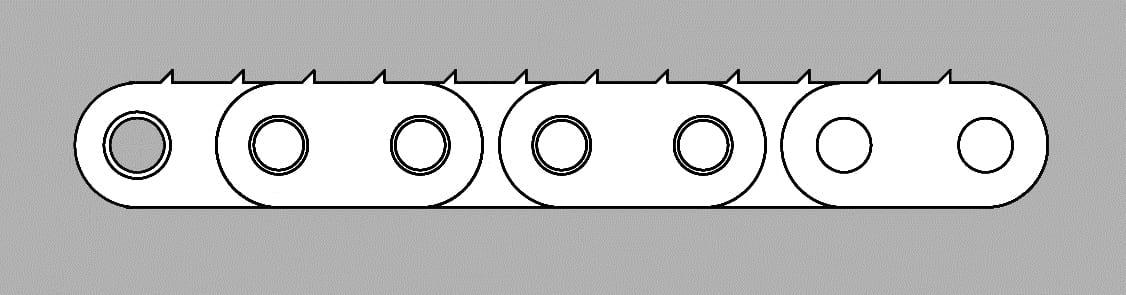 Łańcuch z płytką zębatą typ Z2M