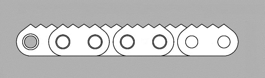 Łańcuch z płytką zębatą typ Z4