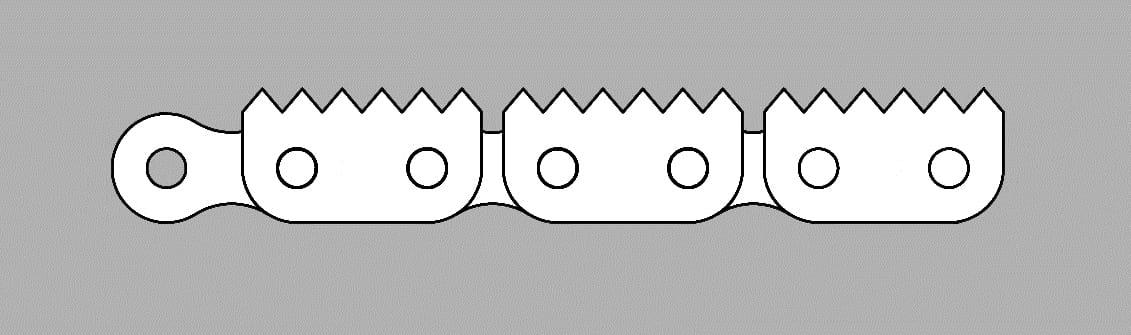 Łańcuch z płytką zębatą typ Z6