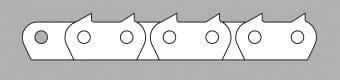 Łańcuch z płytką zębatą typ ZA