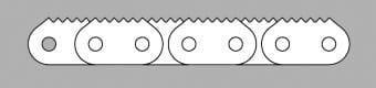 Łańcuch z płytką zębatą typ ZB