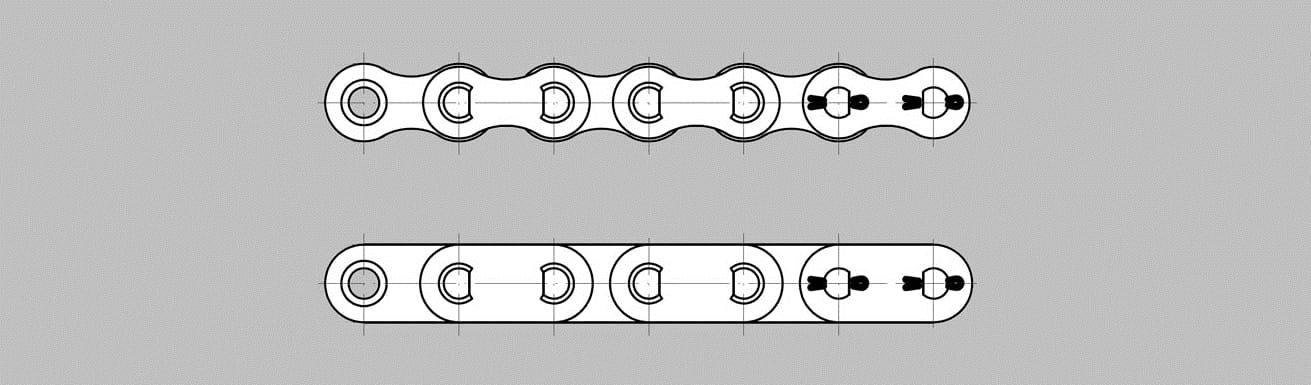 Łańcuchy napędowe – tulejkowe TM wersja A i B