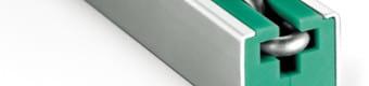 Prowadnice do łańcuchów ogniwowych typ CRG z profilem stalowym