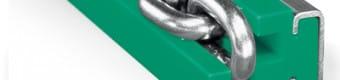 Prowadnice do łańcuchów ogniwowych typ CRO z profilem stalowym